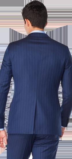 Kostuum Blauw Krijtstreep